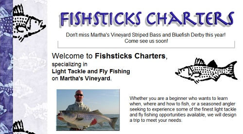 Fishsticks Charters - Martha's Vineyard fly fishing, sea fishing, shoreline fishing, surf fishing