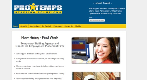 Pro Temps Staffing Solutions - Temporary Staffing Agency and Direct Hire Employment Placement Firm